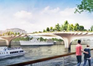 Geplante Thames-Garden-Bridge